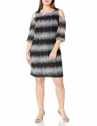 Sandra Darren Women's Plus Size 1 Pc Cold Shoulder Knit Dress