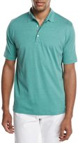 Isaia Cotton-Silk Polo Shirt, Green