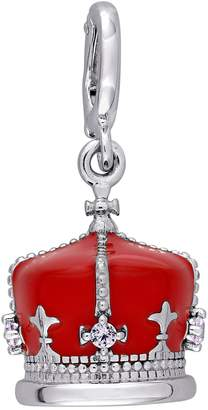 Laura Ashley Jewelry Sterling Enamel British Crown Charm
