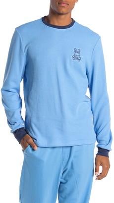 Psycho Bunny Waffle Knit Bunny Long Sleeve Lounge T-Shirt