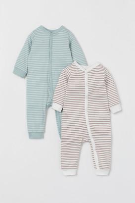 H&M 2-pack Cotton Jumpsuits