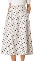 LK Bennett Octavia Printed Skirt, White