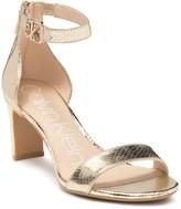 Calvin Klein Chanda Metallic Snakeskin Embossed Sandal