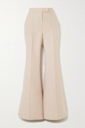 Gabriela Hearst Leda Wool And Silk-blend Wide-leg Pants - Beige