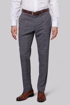 Savoy Taylors Guild Regular Fit Grey Windowpane Trousers
