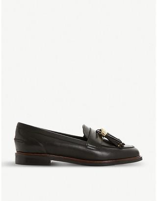 Dune Glazer leather tassel loafer