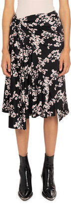 Paco Rabanne Floral Wrapped Skirt