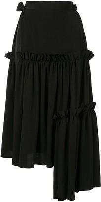 Yohji Yamamoto Ruffled Asymmetrical Skirt