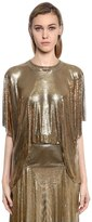 Paco Rabanne Open Back Draped Metal Mesh Top