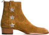 Saint Laurent Signature Wyatt 40 ankle boots - men - Leather/Suede - 39