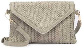Urban Expressions Vegan Leather Braided Crossbody Bag