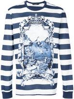 Dolce & Gabbana marina print long sleeve top