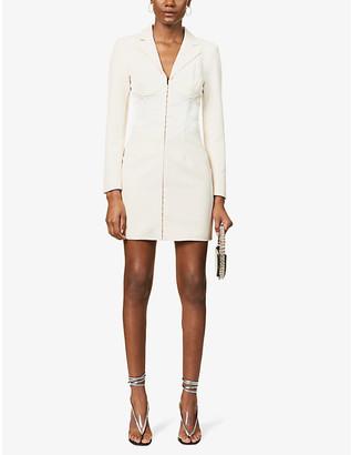 Lavish Alice Asymmetric crepe midi dress