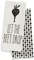 Levtex Let The Beet Drop Set Of 2 Dish Towels