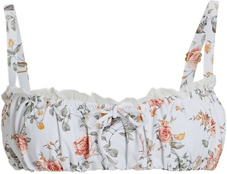WeWoreWhat Floral Toile Bikini Top