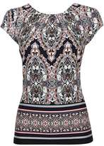 Wallis Navy Blue Paisley Print Shell Top