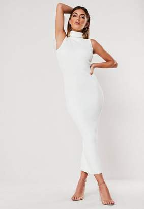 Missguided Cowl Neck Knitted Sleeveless Midi Dress
