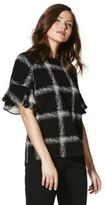 F&F Checked Bell Sleeve T-Shirt