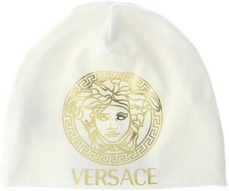 Versace Golden Medusa Logo Jersey Baby Hat