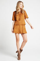BCBGeneration Seamed Faux Suede Boxy Top