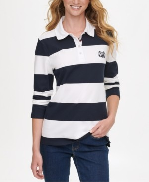 Tommy Hilfiger Rugby Stripe Polo Shirt, Created for Macy's