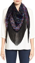 Collection XIIX Ikat Print Fringe Scarf