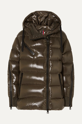 Moncler Liriope Quilted Glossed-shell Down Jacket - Green