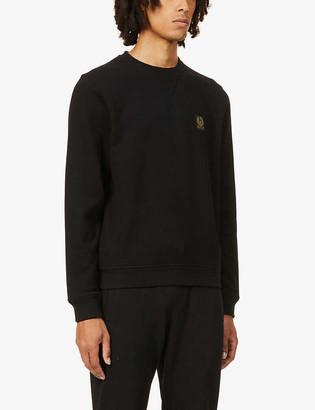Belstaff Brand-badge crewneck cotton-jersey sweatshirt