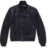 Tom Ford Slim-fit Suede Bomber Jacket