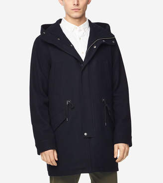 Cole Haan Insulated Melton Wool Anorak