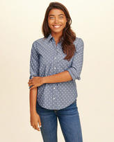 Hollister Button-Front Woven Shirt