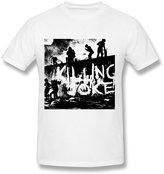 Fire-Dog-Custom Tees Men's Killing Joke Band Poster Short Sleeve T Shirts Size XL