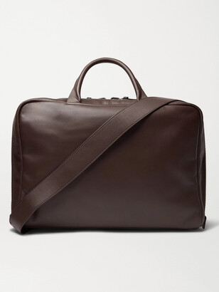 Álvaro González Arturo Leather Briefcase - Men - Brown