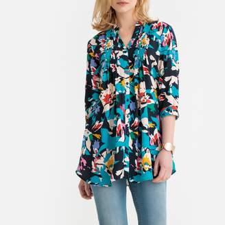 Anne Weyburn Floral Print Tie-Waist Tunic