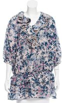 Paul & Joe Floral Print Wool Top