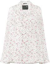 R 13 floral print pyjama top - women - Silk - XS