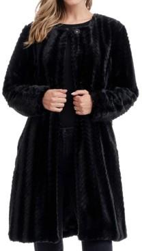 Fever Solid Faux Fur Coat