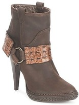 Roberto Cavalli QPS577-PK206 women's Low Ankle Boots in Brown