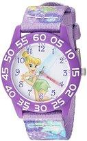 Disney Girl's 'Tinker Bell' Quartz Plastic and Nylon Casual Watch, Color:Purple (Model: WDS000132)