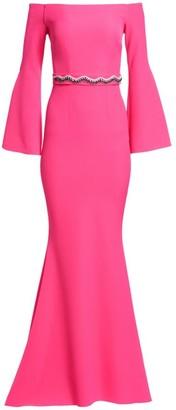 Safiyaa Esmerelda Off-The-Shoulder Bell Sleeve Gown