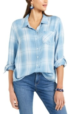 Style&Co. Style & Co Petite Plaid Tunic Shirt, Created for Macy's