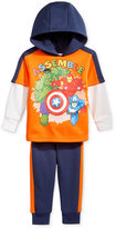 Nannette 2-Pc. Layered-Look Avengers Hoodie & Pants Set, Little Boys (2-7)