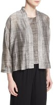Eileen Fisher Streaked Hand-Painted Cropped Jacket, Petite