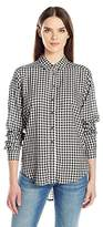 Velvet by Graham & Spencer Women's Checks Button Down Shirt