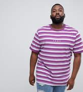Puma PLUS Retro Striped T-Shirt In Purple Exclusive To ASOS