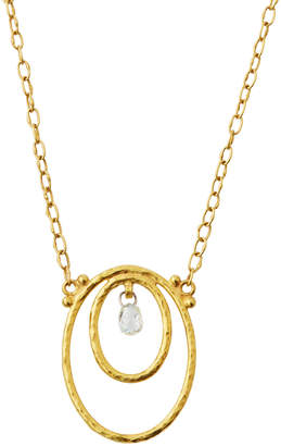 Gurhan GlowDouble-Oval & Briolette Diamond Pendant Necklace
