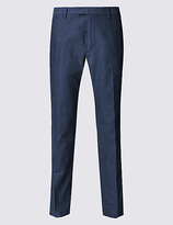 Limited Edition Slim Fit Pure Cotton Textured Chinos