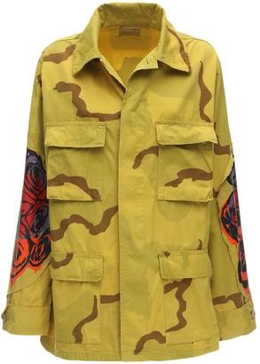 R 13 Camo Cotton Canvas Jacket W/ Patches