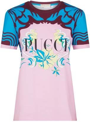 Emilio Pucci Logo Floral Print T-Shirt