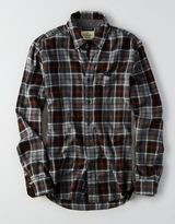 American Eagle AEO Slim Plaid Twill Shirt